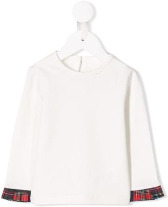 Lapin House contrasting collar T-shirt