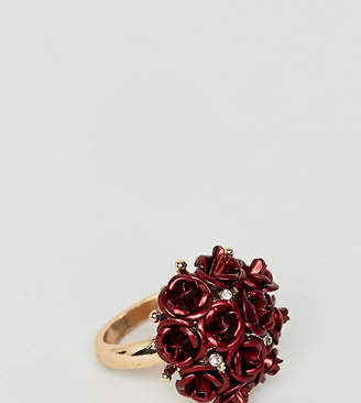 Aldo metal floral statement ring