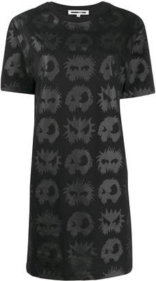 McQ angry eyes T-shirt dress