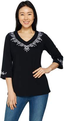 Belle By Kim Gravel Belle by Kim Gravel TripleLuxe Embroidered Tunic