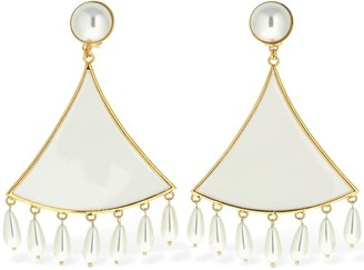 Rowen Rose Full Triangle Clip-on Pendent Earrings