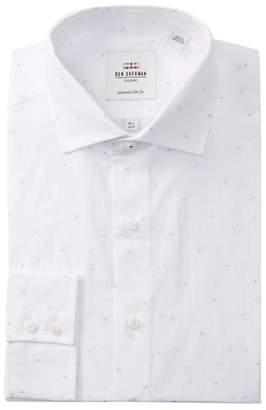 Ben Sherman Spotted Tailored Slim Fit Dress Shirt