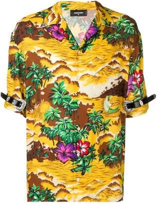 DSQUARED2 novelty print shirt