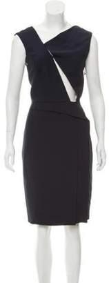 J. Mendel Sleeveless Knee-Length Dress Navy Sleeveless Knee-Length Dress
