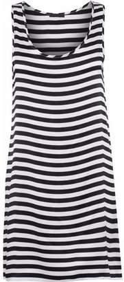 R 13 Striped Silk Crepe De Chine Mini Dress