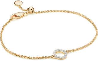 Monica Vinader Riva Mini Circle 18ct gold vermeil and diamond bracelet