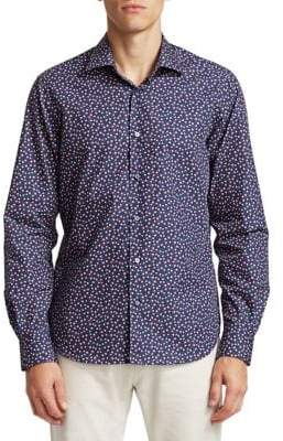 Saks Fifth Avenue COLLECTION Floral Print Cotton Shirt