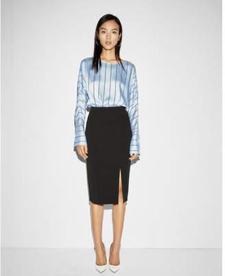 Express high waisted front slit pencil skirt