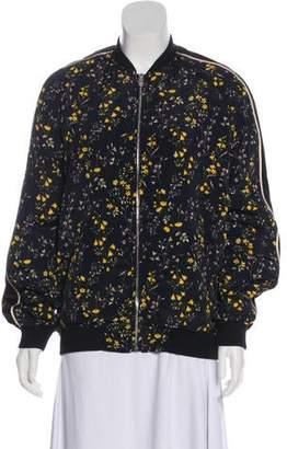 e5d294d17c8 Belstaff Silk Blend Floral Print Bomber Jacket