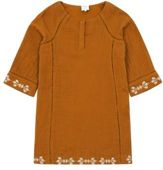 Little Karl Marc John Sale - Roujy Embroidered 3/4 Sleeve Dress