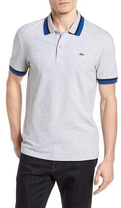 Lacoste Slim Fit Contrast Stretch Cotton Pique Polo