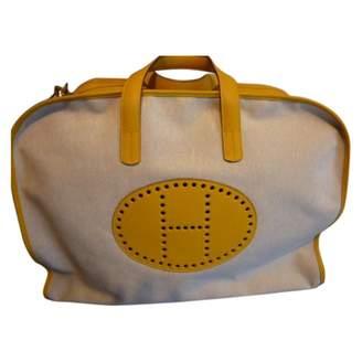Hermes Yellow Leather Travel bag