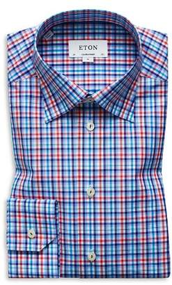 Eton Plaid Regular Fit Dress Shirt