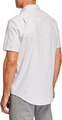 Michael Kors Men's Short-Sleeve Mack Print Shirt