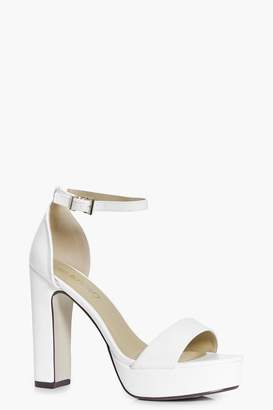 boohoo Wide Fit Platform Two Part Heels
