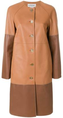 Loewe two-tone buttoned coat