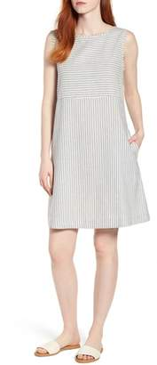 Eileen Fisher Varied Stripe Hemp & Organic Cotton Shift Dress