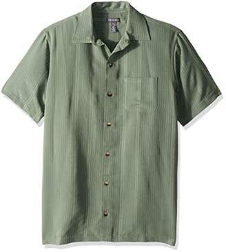 Van Heusen Men's Air Stripe Short Sleeve Button Down Shirt
