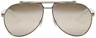 Dolce & Gabbana Gunmetal Aviator Sunglasses