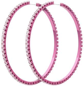 Area pink dorinda crystal hoop earrings