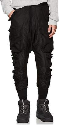 Taverniti So Ben Unravel Project Men's Multi-Pocket Silk Cargo Trousers