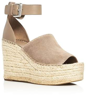 Marc Fisher LTD. Adalyn Ankle Strap Espadrille Platform Wedge Sandals $170 thestylecure.com