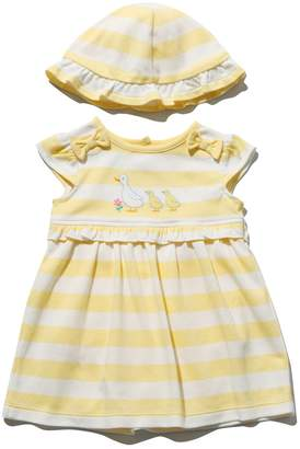 M&Co Stripe frill dress and hat set
