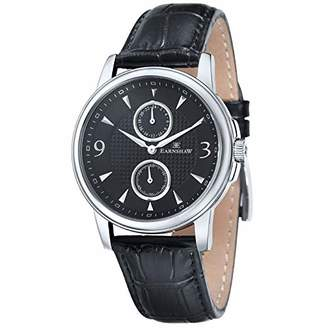 Thomas Laboratories Earnshaw Men's 'Flinders' Quartz Stainless Steel and Leather Casual Watch