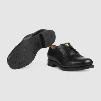 8461031722d03 Gucci Brogue leather lace-up shoe