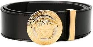 Versace round Medusa belt