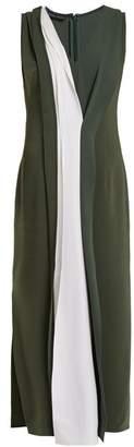 Carl Kapp - Safari Bi Colour Stretch Cady Dress - Womens - Khaki Multi