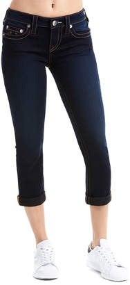 True Religion Rolled Dark Capri Jeans