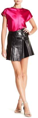 Helmut Lang Leather Buckled Wrap Skirt