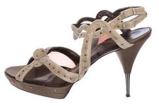 Stella McCartney Embellished Velvet Sandals