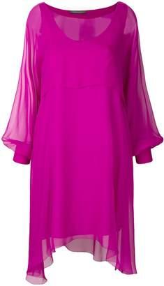 Alberta Ferretti sheer balloon sleeve mini dress