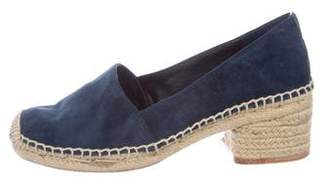 Tory Burch Suede Round-Toe Espadrilles