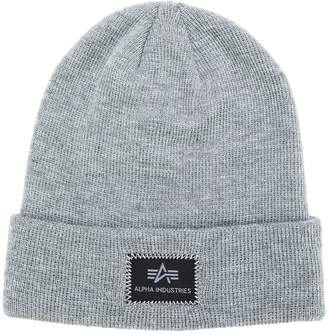 Alpha Industries logo beanie
