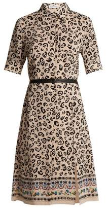 Altuzarra Keiran Leopard Print Silk Shirt Dress - Womens - White Print