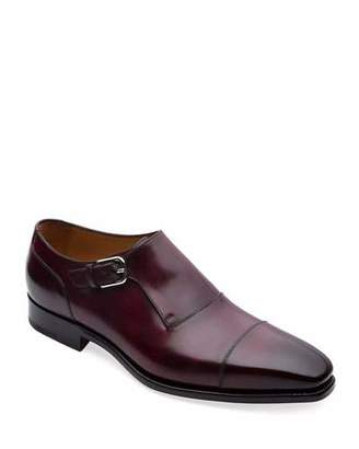 Paul Stuart Men's Giordano Single-Monk Leather Shoes
