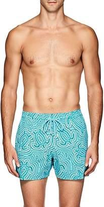 Vilebrequin Men's Moorise Turtle-Print Swim Trunks