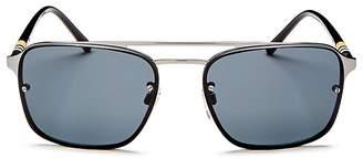 Burberry Polarized Brow Bar Square Aviator Sunglasses, 56mm