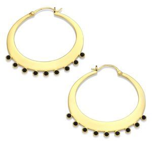 Jules Smith Rumi Hoop Earrings/2.25 $100 thestylecure.com