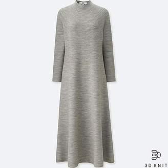Uniqlo Women's 3d Merino Mock Neck Long-sleeve Dress
