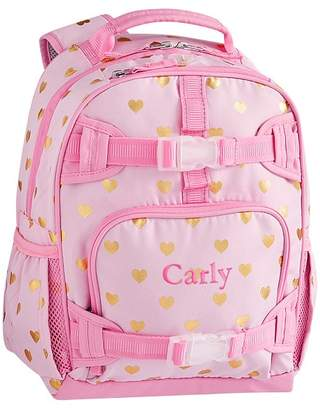 Pottery Barn Kids Mackenzie Pink/Gold Foil Hearts Classic Lunch Bag