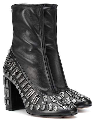 Bea Yuk Mui Samuele Failli Exclusive to Mytheresa – embellished leather ankle boots