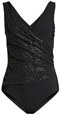 423f0409376cc Chiara Boni Women's Nastya Pailettes One-Piece Swimsuit