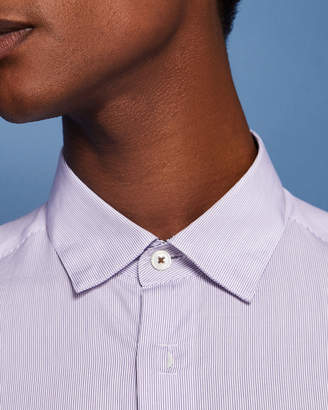 Ted Baker STRIPED Striped placket cotton shirt