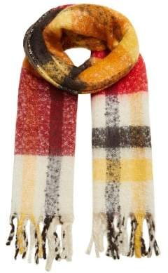 MANGO Textured maxi scarf