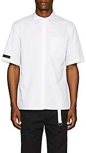 Helmut Lang Men's Tech-Inset Cotton Poplin Shirt - White