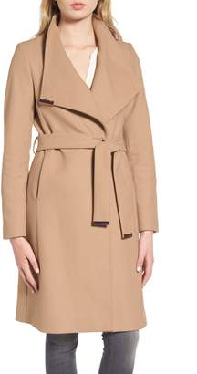 Ted Baker Wool Blend Long Wrap Coat
